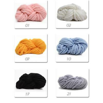 260g Soft Roving Bulky Yarn Spinning DIY Hand Knitting Wool Thick String Chunky
