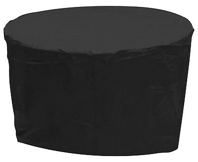 Oxbridge Black Medium Round Waterproof Outdoor Garden Patio Set Furniture Cover