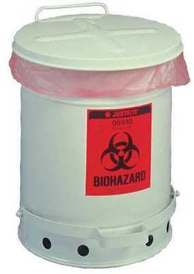 JUSTRITE 05930 Biohazard Waste Can 18-1/4""
