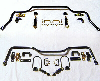 1955 1956 1957 Chevy Car Bel Air Nomad Front & Rear Sway Bar Bars w/ Linkage Kit