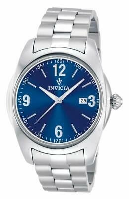 Invicta 12190 Vintage Collection Date Blue Dial Silver-tone Bracelet Mens Watch