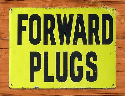 "TIN SIGN ""Forward Plugs""  Garage Rustic Auto Wall Decor"