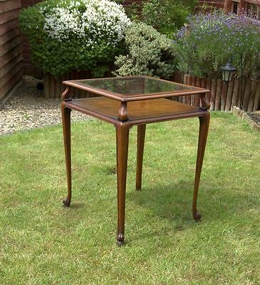 Mahogany Bijouterie , display Table , Cabinet(pick up from Bath or Guildford)
