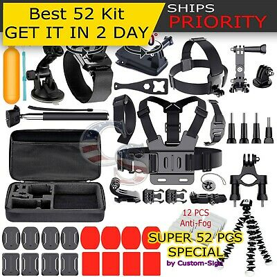 52in1 Head Chest Mount Floating Monopod Accessories Kit For GoPro 2 3 4 5 Camera