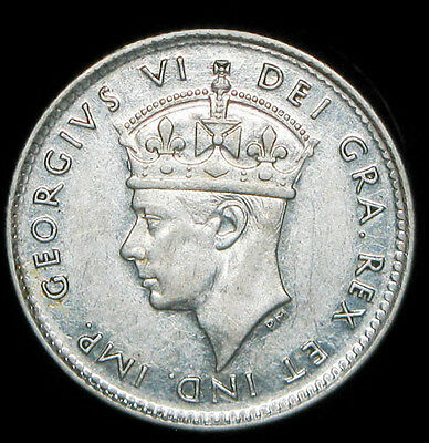 1945-C New foundland 5 cents silver