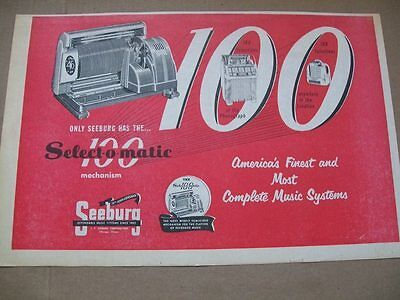 Seeburg 100 Selections phonograph 1952 Ad- Select-o-matic/America's Finest
