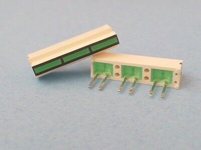 5 Pieces - 3 Segment LED Bar Graph Array Common Green 6 Pin Displays ROHM
