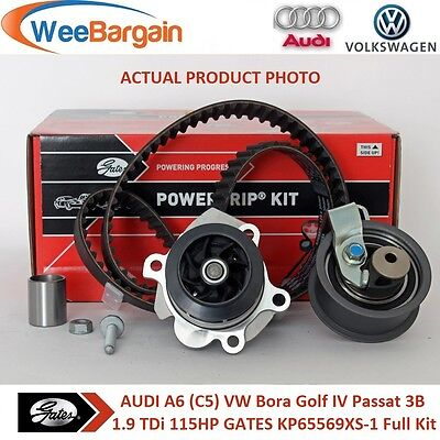 AUDI VW 1.9 TDi 115HP 8V GENUINE GATES KP65569XS-1 Timing Belt Kit & Water Pump