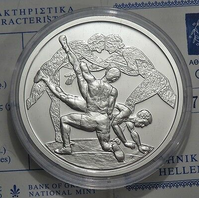 10 € Griechenland - Olympiade 2004 in Athen - Ringen 1 oz Ag