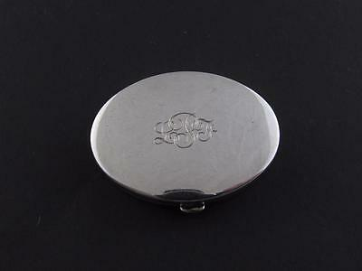 Genuine TIFFANY & Co. Oval Sterling Silver Compact Case with Mirror Powder Puff
