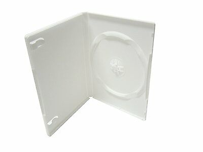 100 New High Quality 14mm Single Standard DVD Cases, White, PSD20
