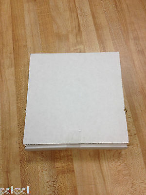"100 New 1 1/8""  White Corrugated Cardboard Cd Mailers Sales Lead Box"