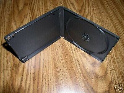 100 New Black Single Poly Cd/dvd Cases Psc11