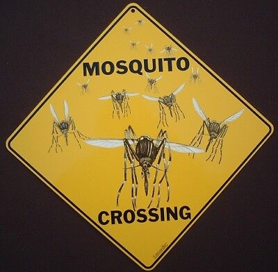 MOSQUITO  CROSSING  Sign aluminum picture novelty decor signs home wildlife art