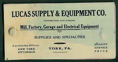 1920's York,PA - Lucas Supply & Equipment Co. Celluloid Covered Blotters Booklet