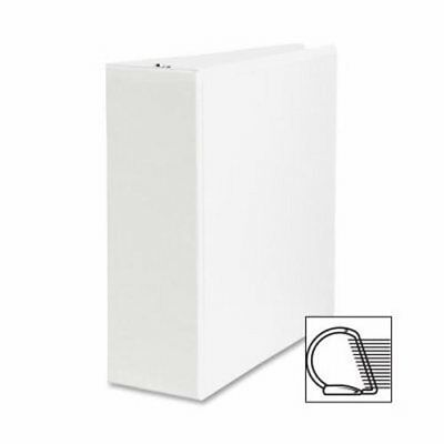"Sparco Slant Ring View Binder, 4"" Capacity, 11""x8-1/2"", White (SPR09801)"