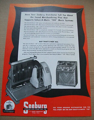 Seeburg Select-o-matic 100 Selections phonograph 1949 Ad- but that's not all