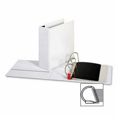 "Sparco Locking D-Ring View Binder,4 ""Capacity,11""x8-1/2"",White (SPR26963)"