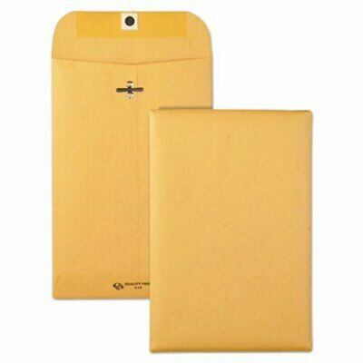Quality Park Clasp Envelope, 6 x 9, 28lb, Brown Kraft, 100/Box (QUA37855)