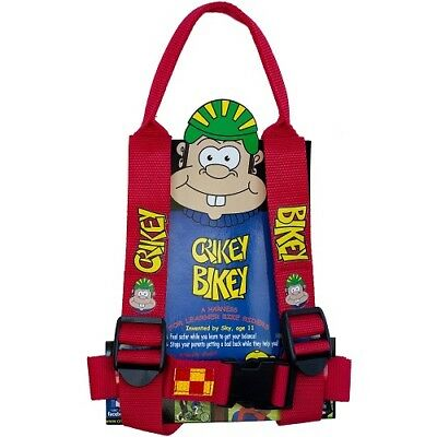 Crikey Bikey Kids Children Bike Cycle Adjustable Reflective Harness With Handle