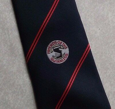 GUINNESS FRIENDS OF THE GUINNLESS VINTAGE TOOTAL TIE 1980s NAVY RED STRIPED