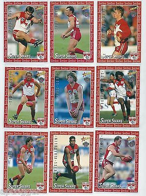 1996 Select Centenary SUPER SWANS Full Set of 13 cards