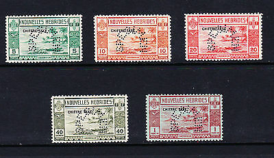 French New Hebrides 1938 Postage Dues Perf'specimen' Sg Fd65-Fd69 Mnh.