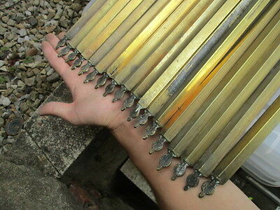"""Antique Brass Stair Rods Trefoil End Victorian Architectural Salvage Old x18 32"""""""