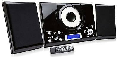 CD Player Grouptronics GTMC-101 Black  Stereo Hi Fi System Aux In Clock Alarm FM