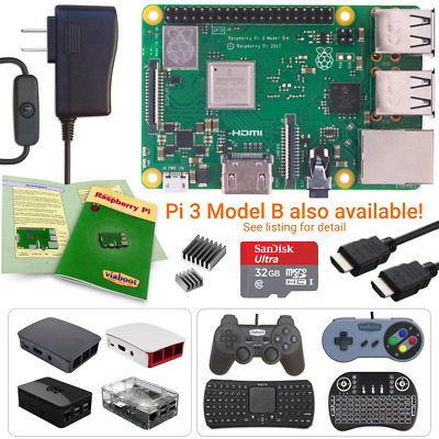 Raspberry Pi 3 Model B Starter, Complete & Ultimate Kits!