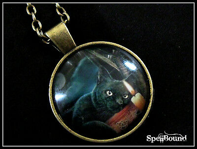 SPELL-INFUSED Psychic Circle GOOD LUCK Medallion CAT Necklace 99% ACCURATE Wicca