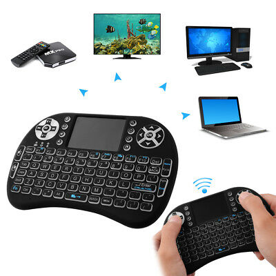 i8 2.4G Mini Wireless Keyboard Mouse LED Backlit Touchpad For Smart TV PC AC397