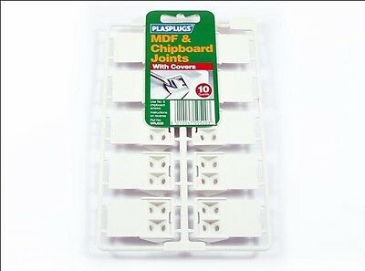 Plasplugs Rigid Joints with Joints White x 10