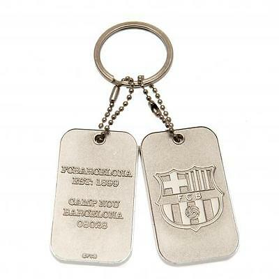 Official Licensed Football Product FC Barcelona Dog Tag Keyring Key Ring Gift