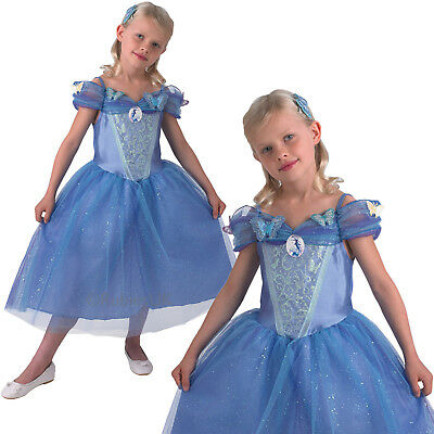 Girls Disney Cinderella Rubies New Childrens Fairytale Princess Kids Fancy Dress