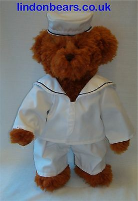 "A New Lindon Jointed Teddy Bear In Sailor Uniform 16""/40Cm Tall On Offer At £24"