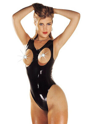 Sharon Sloane Latex Rubber Boobless Body - Black