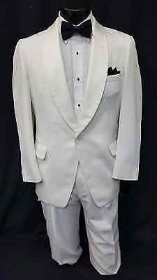 36 S Mens White Tuxedo Dinner Jacket Formal Wedding Cruise Classic Coat Cheap