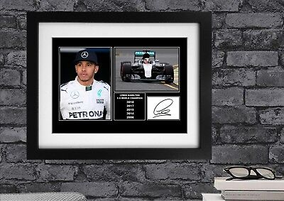 Lewis Hamilton Signed / Autographed And Framed Print
