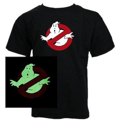 KIDS - GHOSTBUSTERS GLOW IN THE DARK CLASSIC MOVIE T-SHIRT Girls all sizes