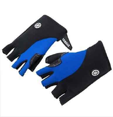 Yamaha 3/4 Finger Clarino Palm Neoprene PWC Gloves Blue/Gray Free Shipping