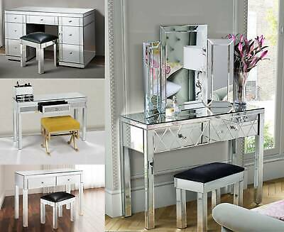 WestWood Mirrored Furniture Glass Dressing Table With Drawer Console Bedroom
