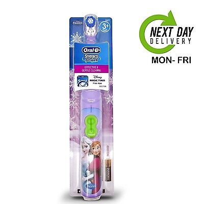 Oral B Disney Frozen Elsa & Anna Kids Electric Toothbrush with Magic Timer App