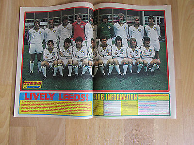 TIGER & Scorcher Magazine LEEDS United FOOTBALL Team Picture 25/11/78