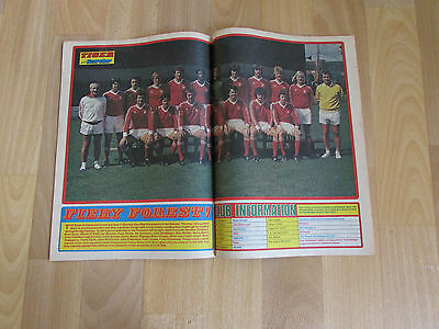 TIGER & Scorcher Magazine NOTTINGHAM Forest FOOTBALL Team Picture 15/10/77