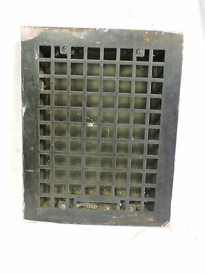 ANTIQUE LATE 1800'S CAST IRON HEATING GRATE 13.75 x 10.75