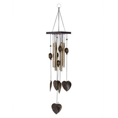 Heart Decor Windchimes Wind Chime Metal 8 Tubes Hanging Ornament Garden Home