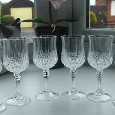4 X Vintage crystaL Plastic Wine Glasses - For picnic and home use