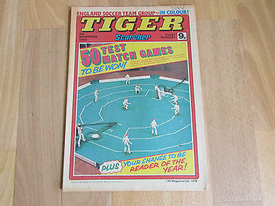 TIGER & Scorcher Comic England FOOTBALL Team Picture 04/11/78