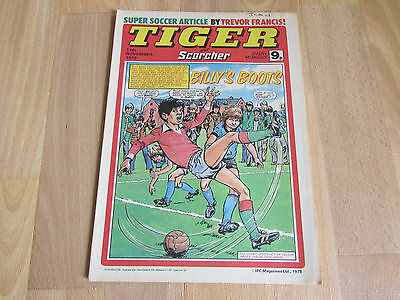 TIGER & Scorcher Comic Burnley FOOTBALL Team Picture 11/11/78